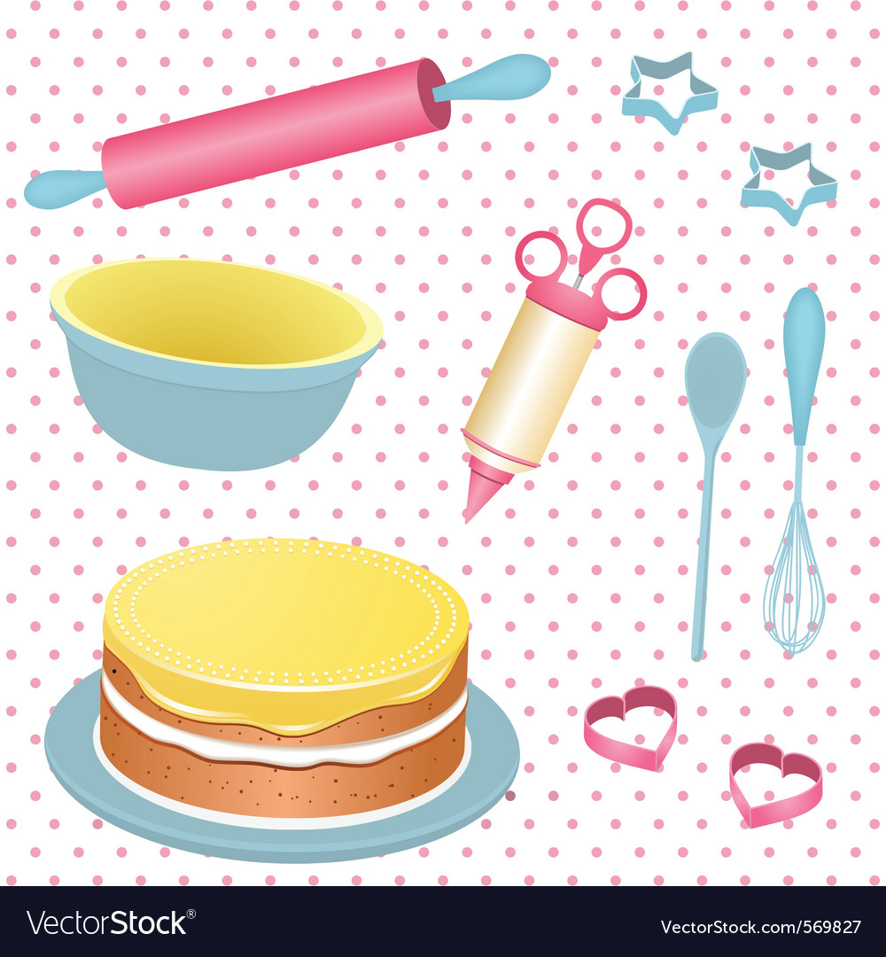Retro baking equipment vector | Price: 1 Credit (USD $1)
