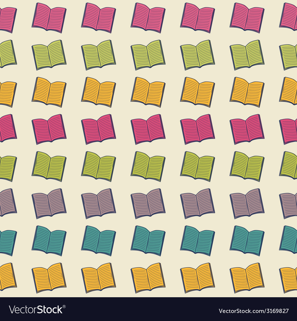School pattern with books vector | Price: 1 Credit (USD $1)