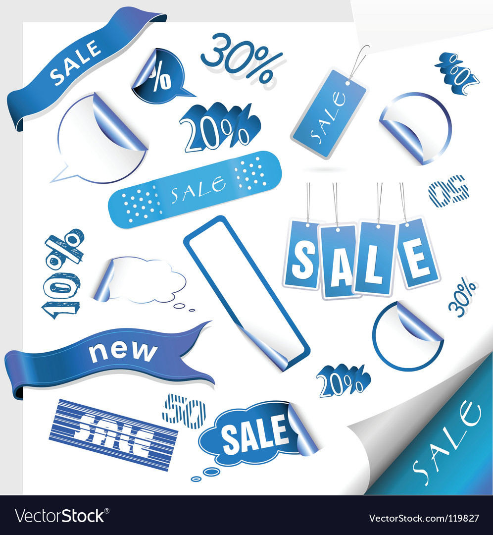 Set of sale tags vector   Price: 1 Credit (USD $1)