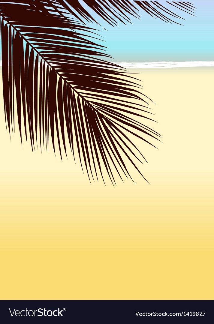 Tropical beach background vector | Price: 1 Credit (USD $1)