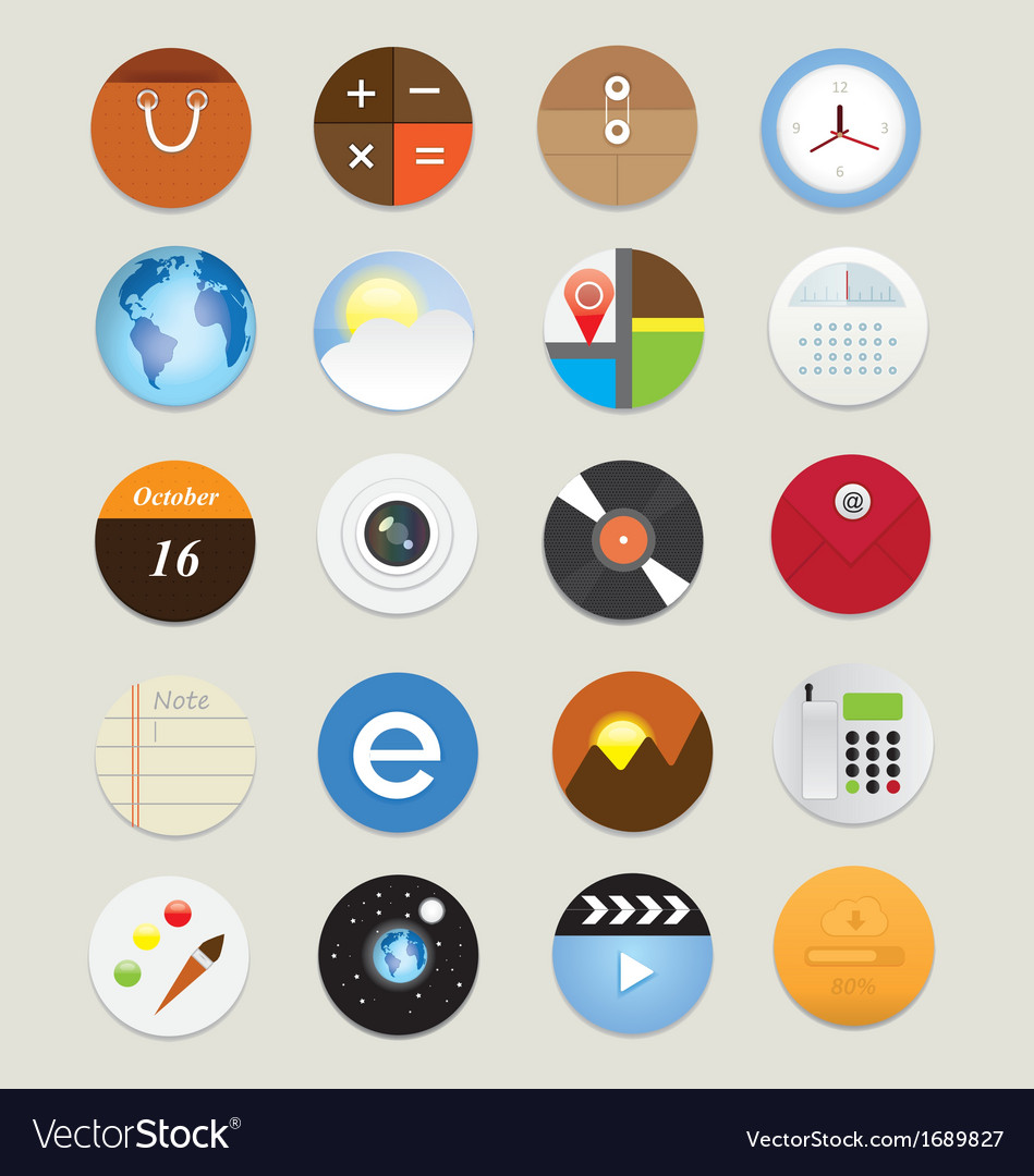 Web icons 17 vector | Price: 1 Credit (USD $1)