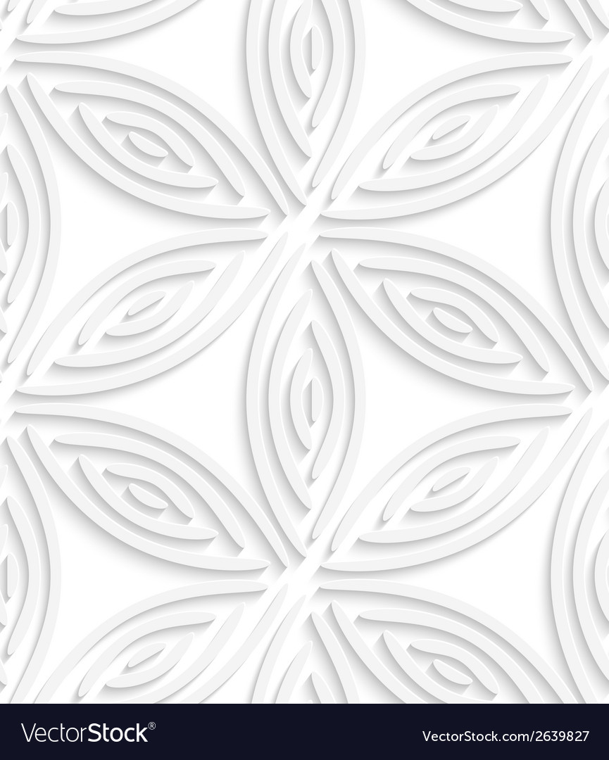 White geometrical flower like shapes seamless vector | Price: 1 Credit (USD $1)