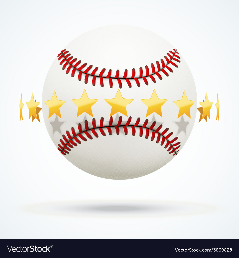 Baseball leather ball with vector | Price: 1 Credit (USD $1)