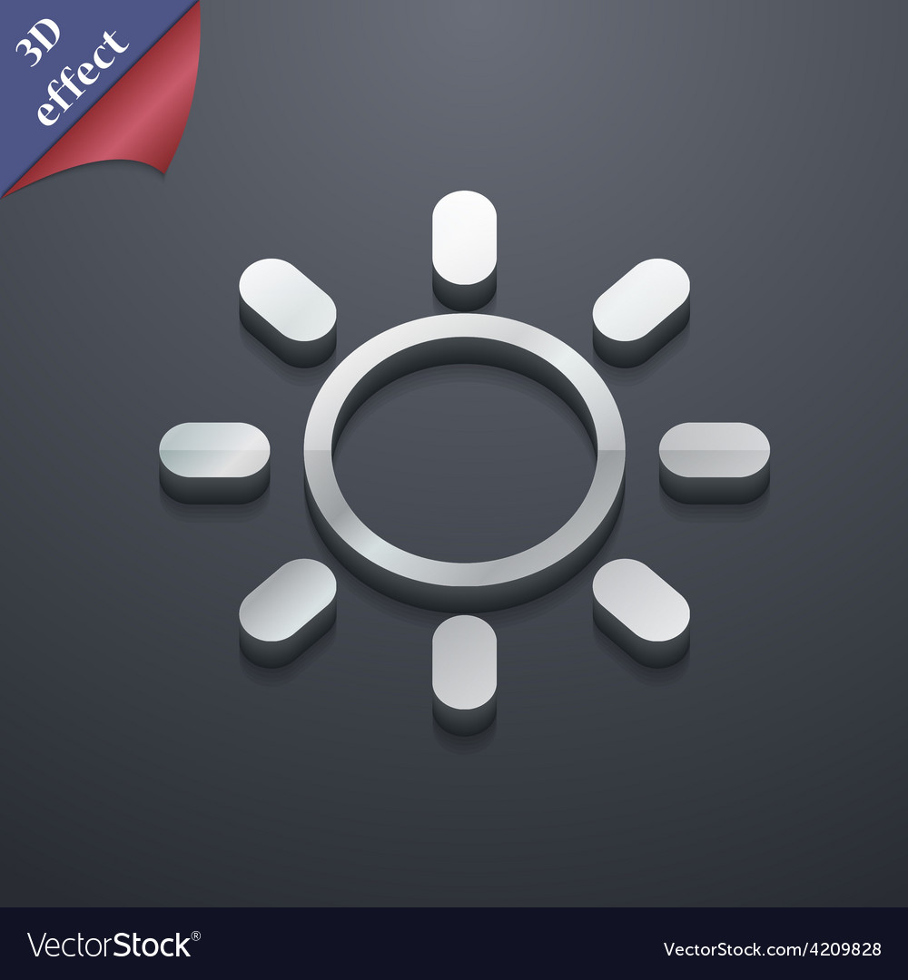 Brightness icon symbol 3d style trendy modern vector | Price: 1 Credit (USD $1)