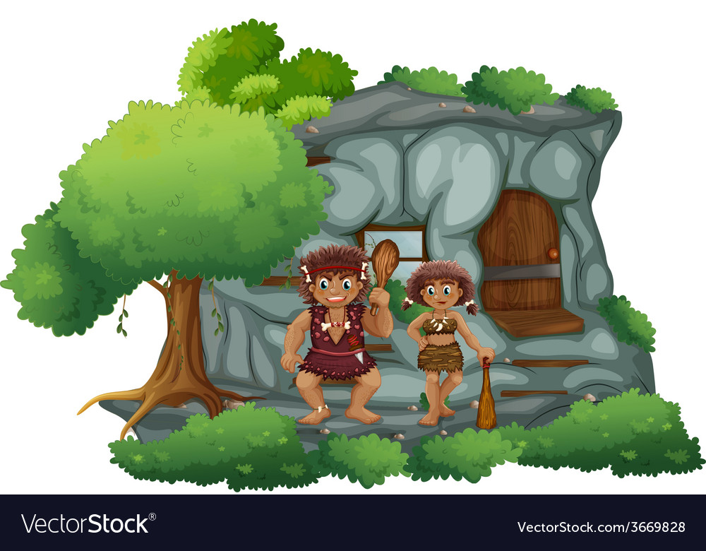 Cavemen vector | Price: 1 Credit (USD $1)