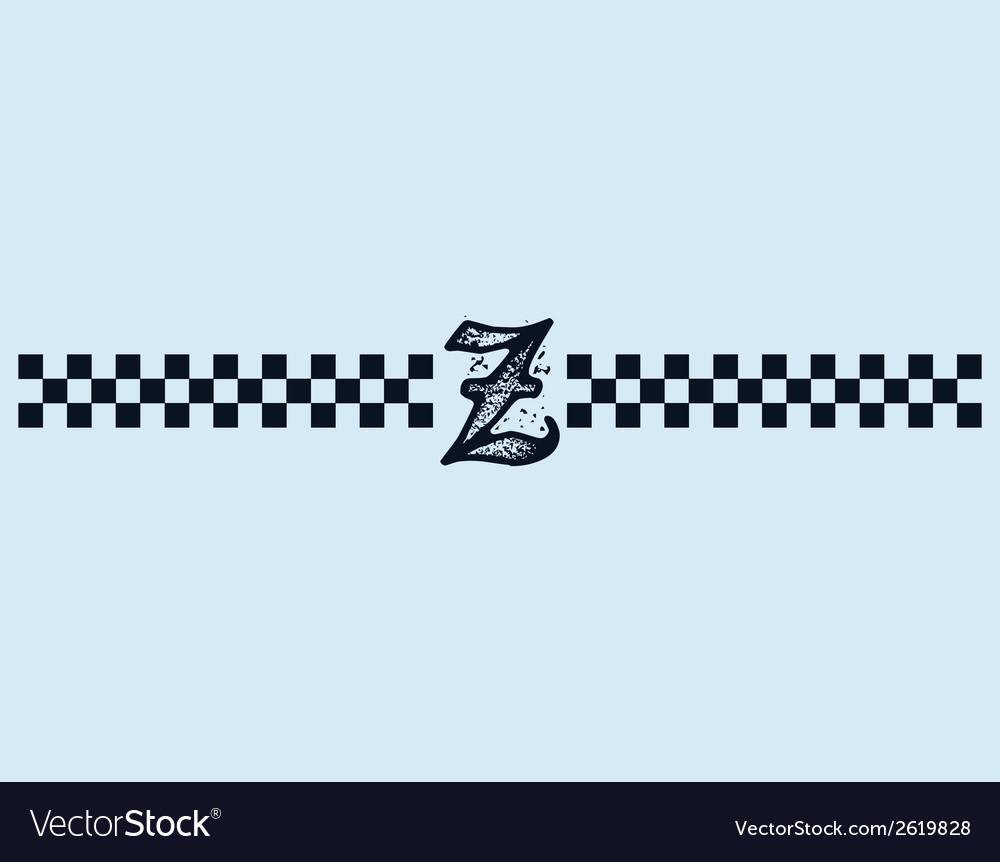 Checkered letter vector | Price: 1 Credit (USD $1)