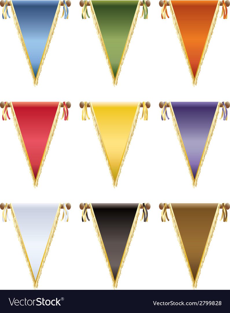 Glossy pennants vector | Price: 1 Credit (USD $1)