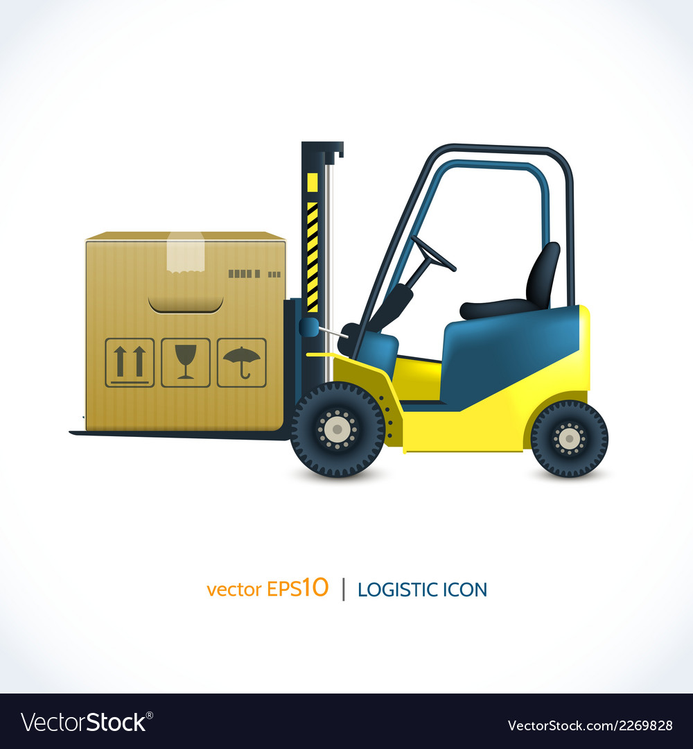Logistic icon forklift vector | Price: 1 Credit (USD $1)