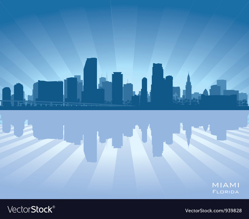 Miami florida skyline vector | Price: 1 Credit (USD $1)