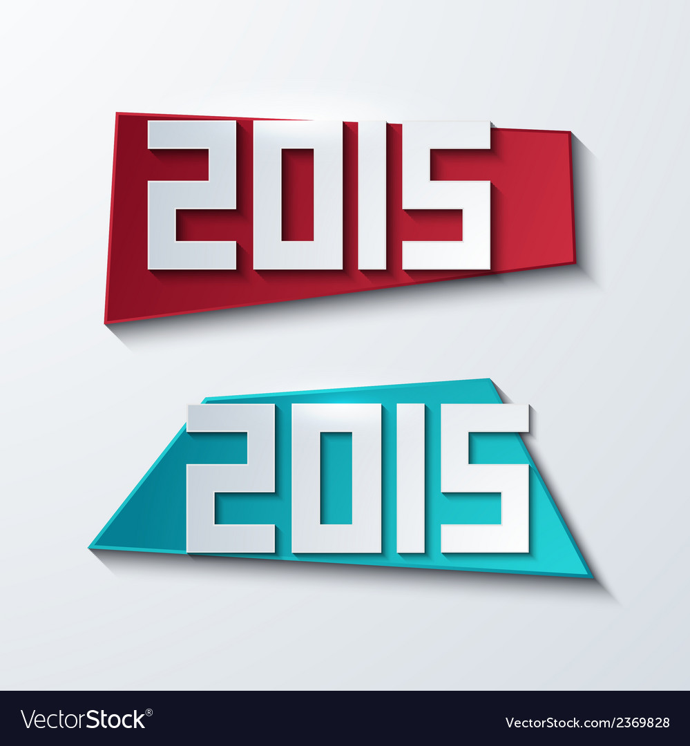 Modern 2015 banners new year background vector | Price: 1 Credit (USD $1)