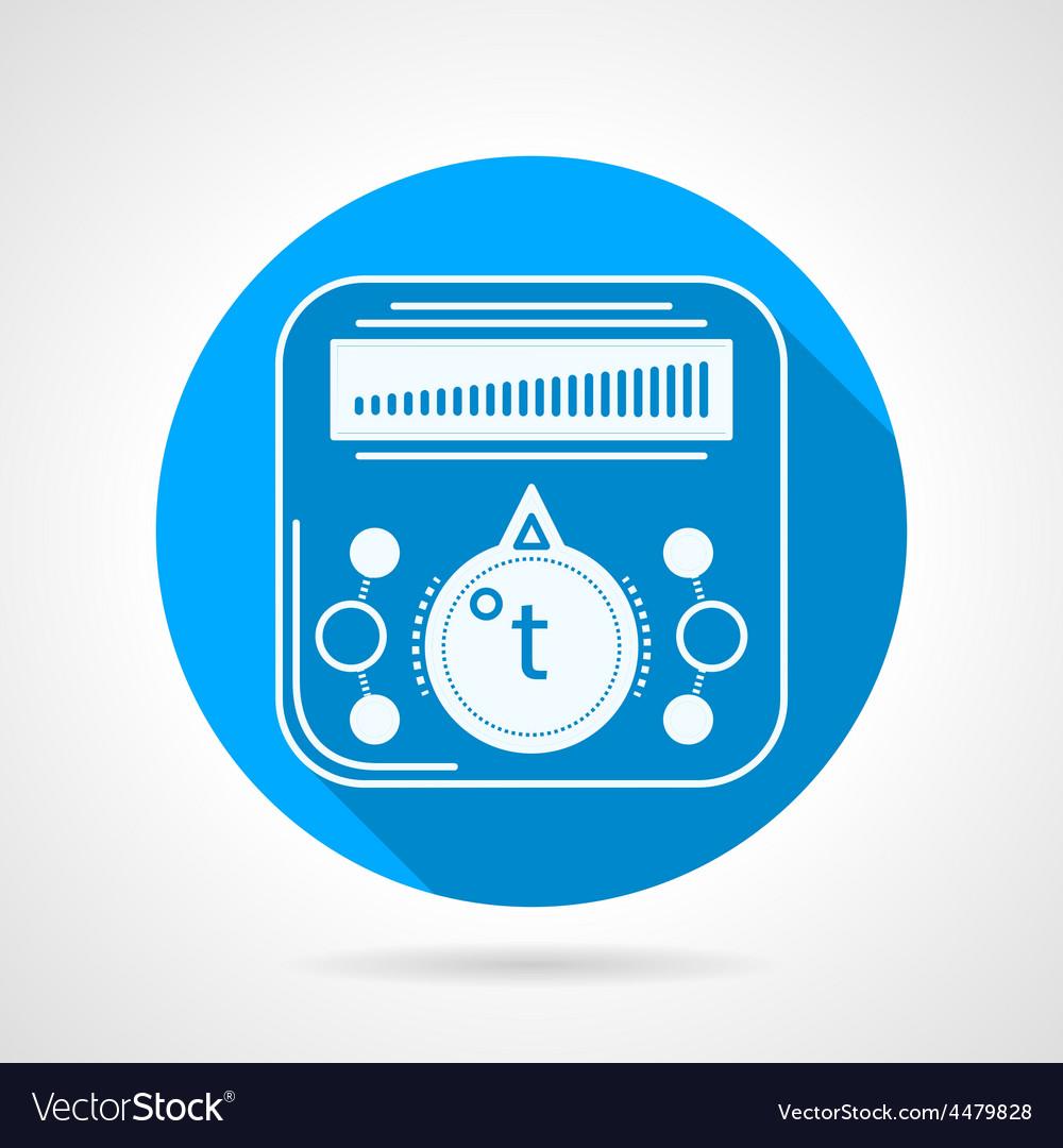 Thermoregulator of heated floor icon vector | Price: 1 Credit (USD $1)