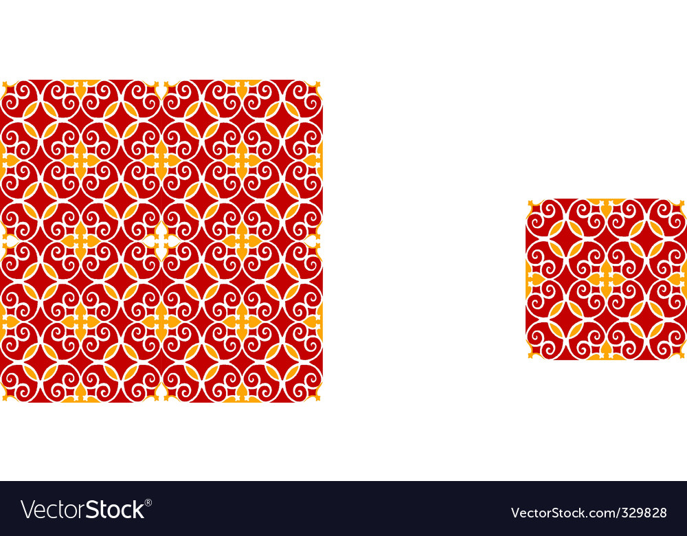 Moroccan tile pattern vector | Price: 1 Credit (USD $1)