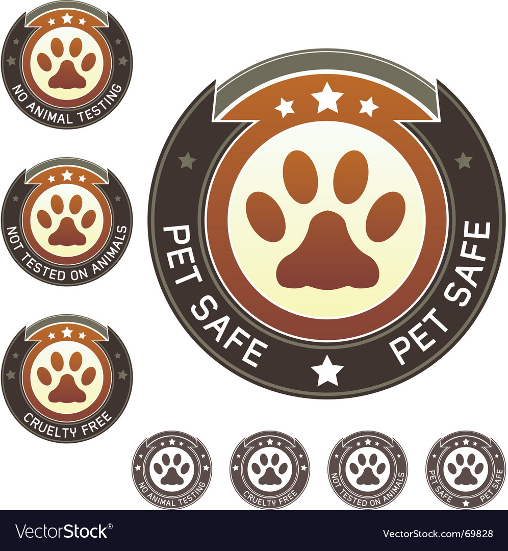 No animal testing labels vector | Price: 1 Credit (USD $1)