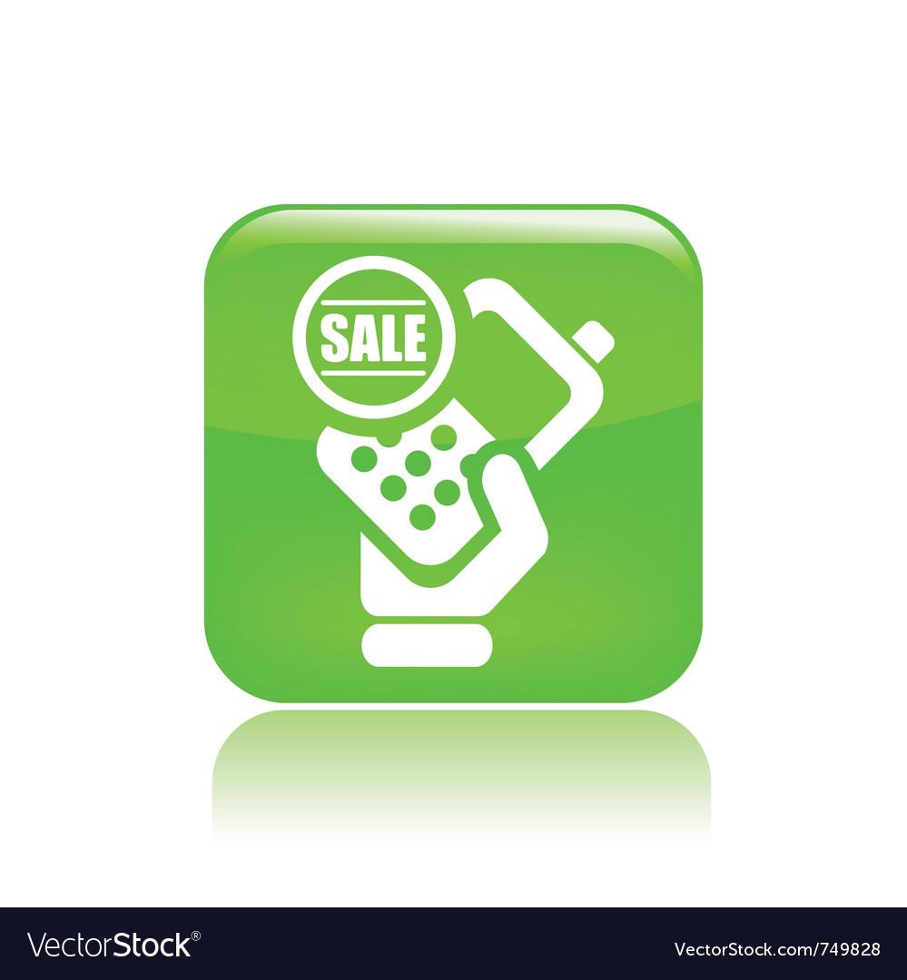 Sale phone icon vector | Price: 1 Credit (USD $1)