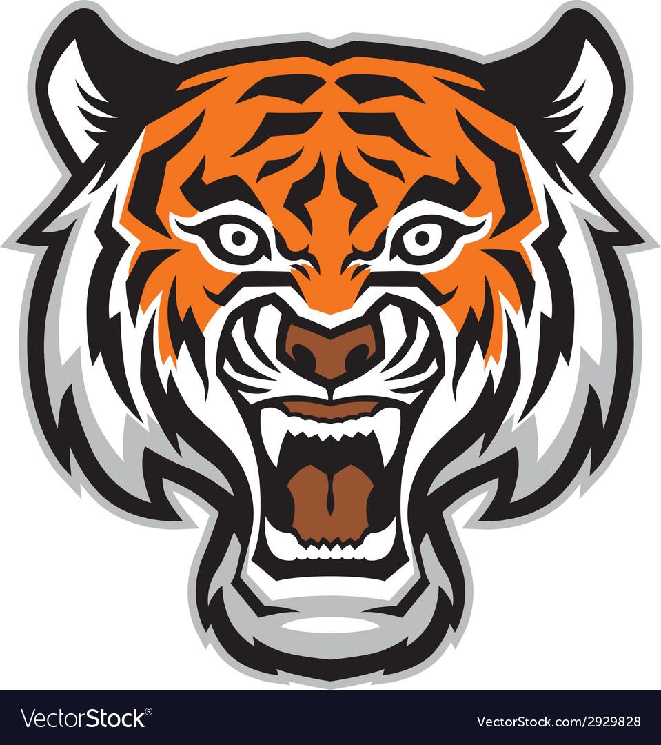 Tiger head mascot vector | Price: 3 Credit (USD $3)
