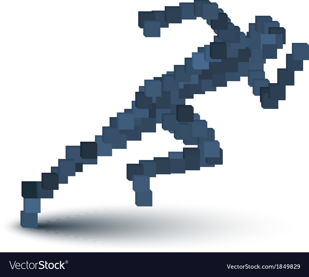 Abstract running human figure vector | Price: 1 Credit (USD $1)