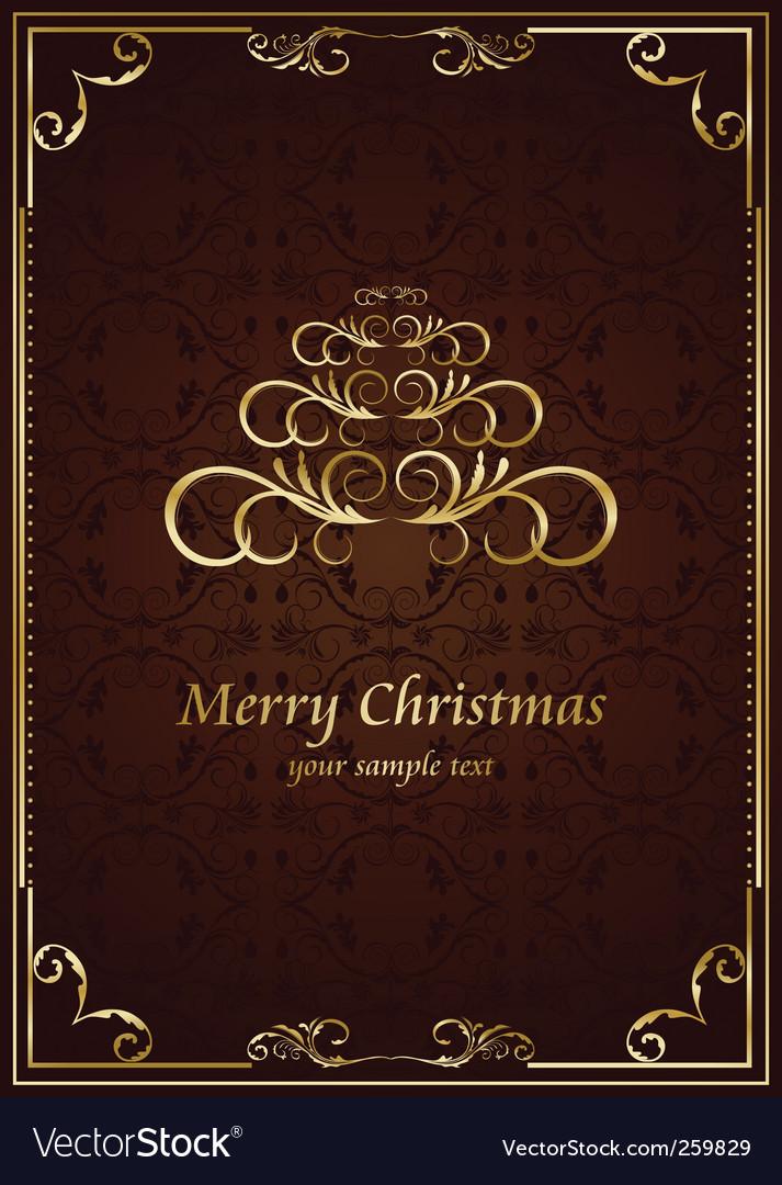 Christmas ornate frame vector | Price: 1 Credit (USD $1)