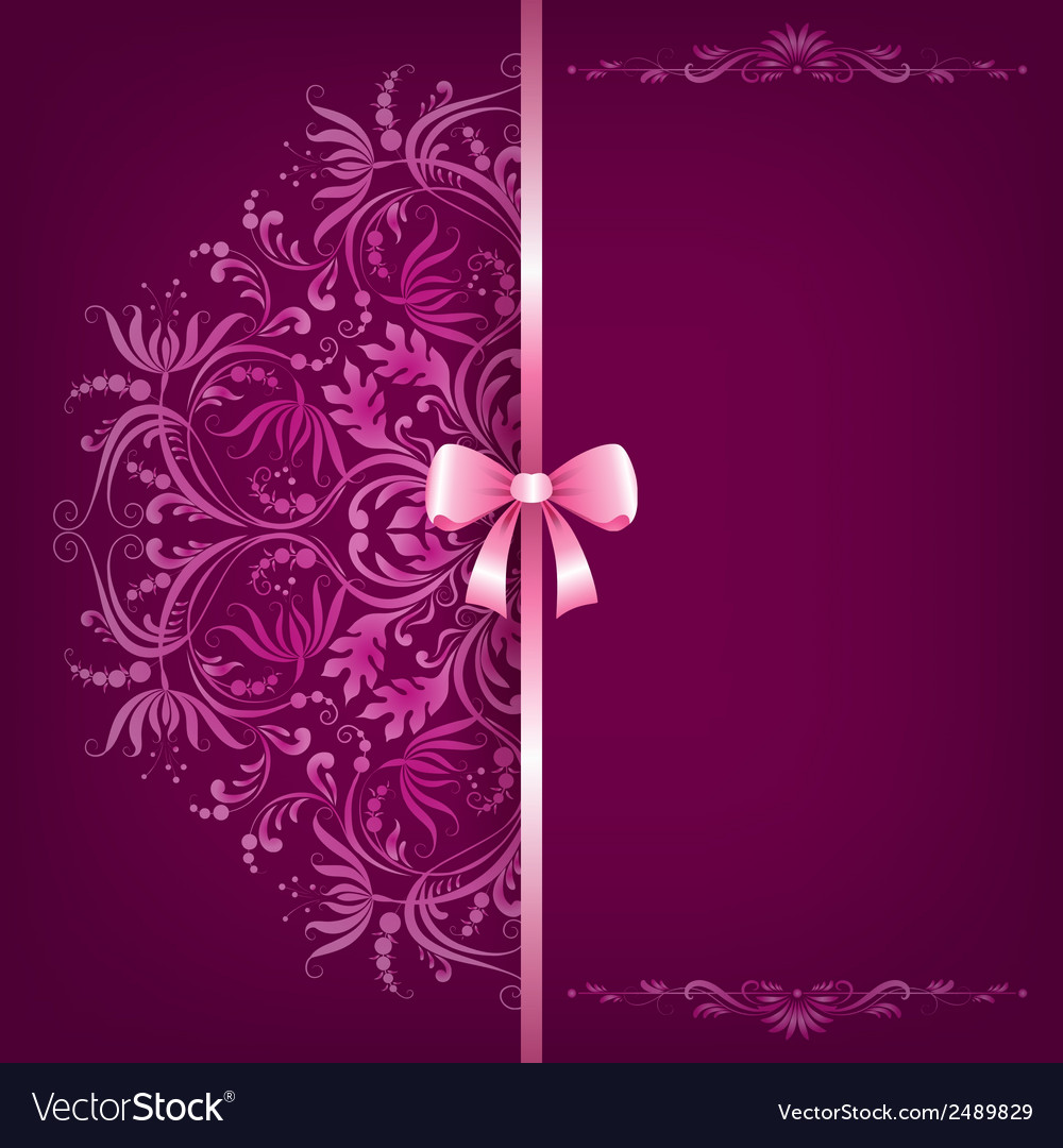 Elegant background and ornament with bow vector | Price: 1 Credit (USD $1)