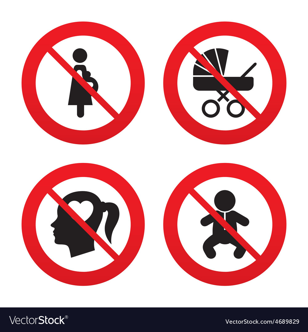 Maternity icons baby infant pregnancy buggy vector | Price: 1 Credit (USD $1)