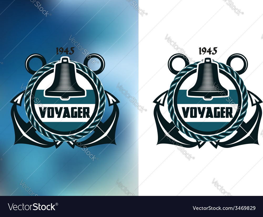 Nautical voyager banner vector | Price: 1 Credit (USD $1)