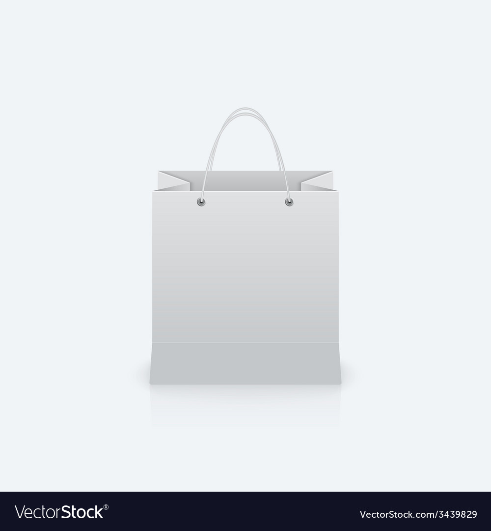 Paper bag with handles vector | Price: 1 Credit (USD $1)