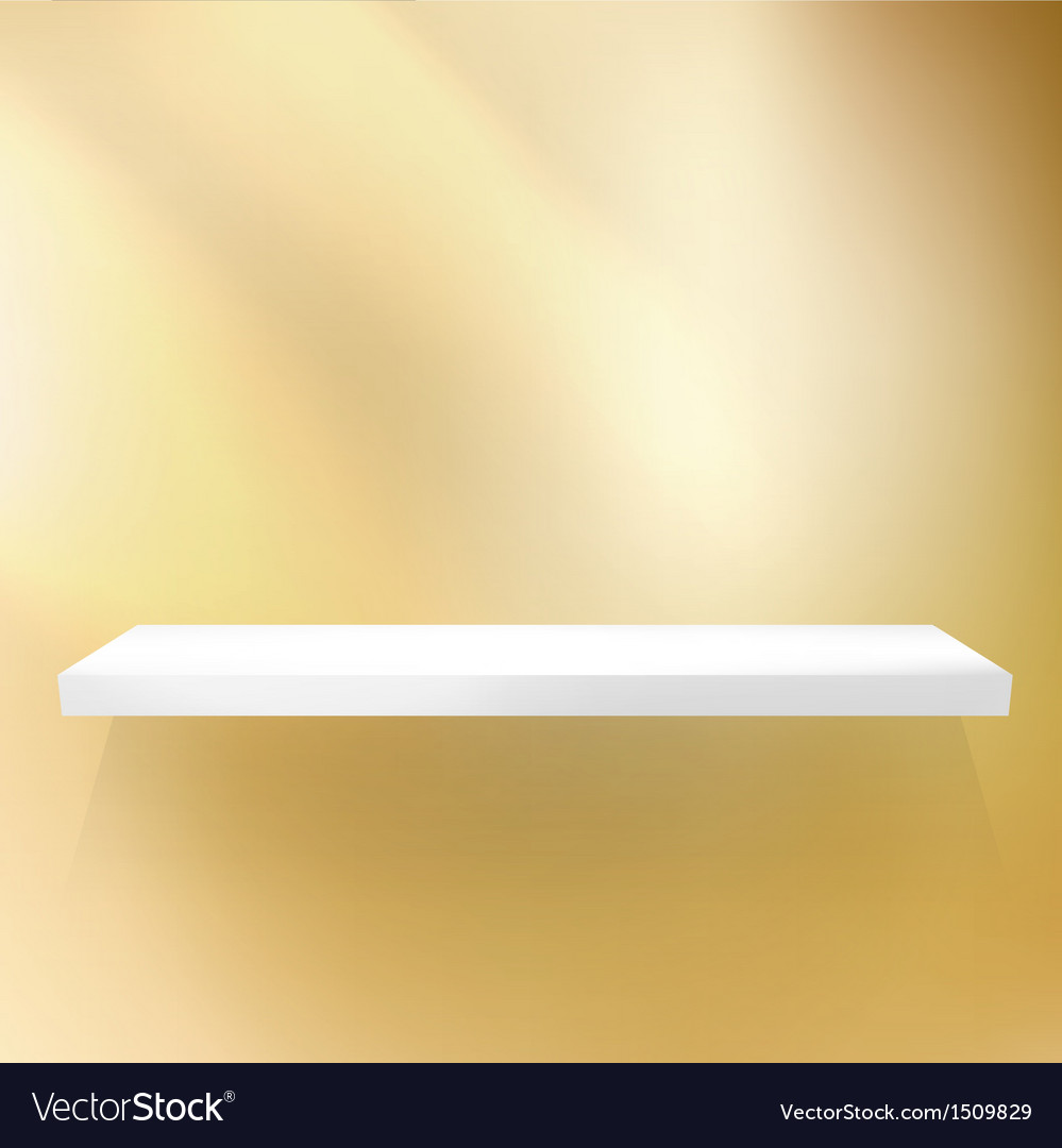 Shelf gold for exhibition vector | Price: 1 Credit (USD $1)