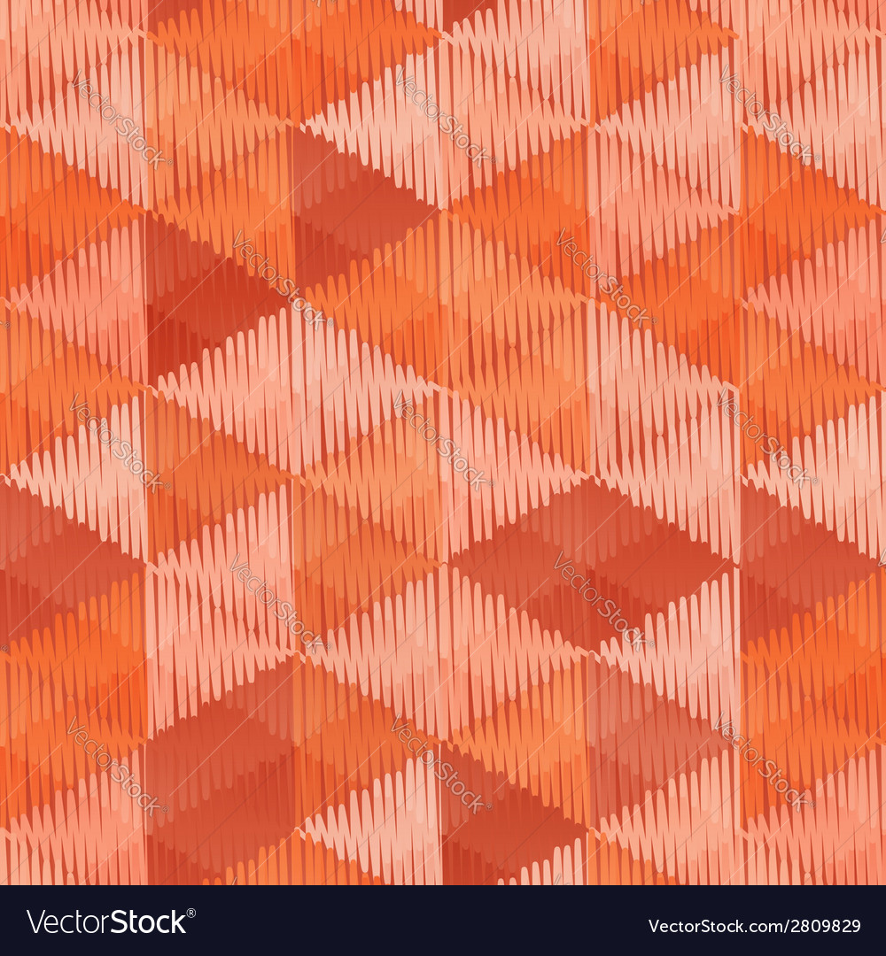 Vintage colors triangles textile seamless pattern vector | Price: 1 Credit (USD $1)