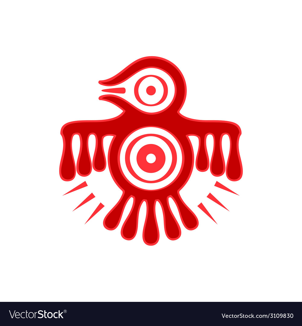 Aztec spirit bird vector | Price: 1 Credit (USD $1)