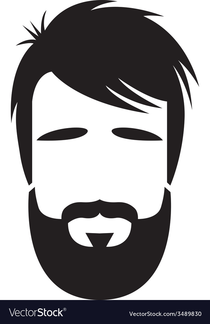 Bearded man vector | Price: 1 Credit (USD $1)