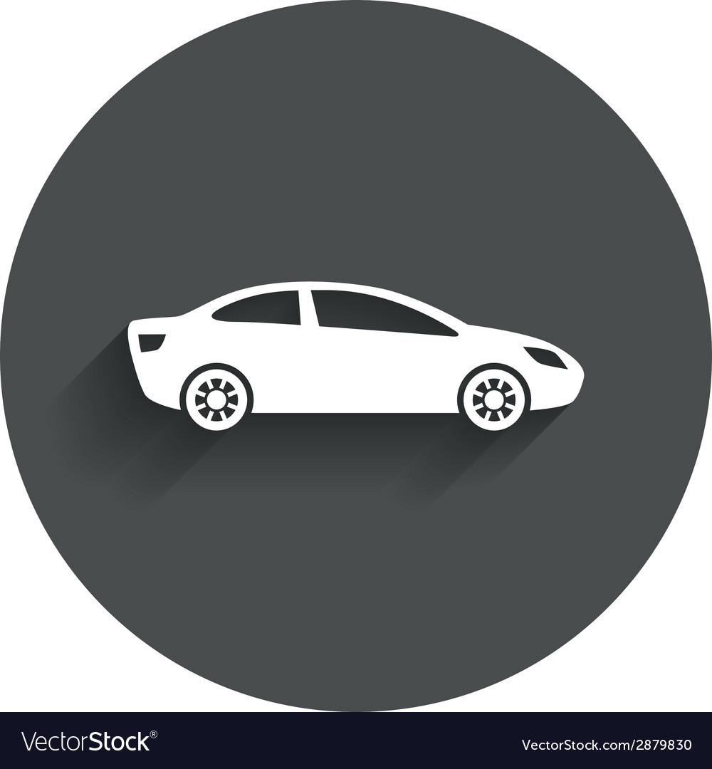 Car sign icon sedan saloon symbol vector | Price: 1 Credit (USD $1)