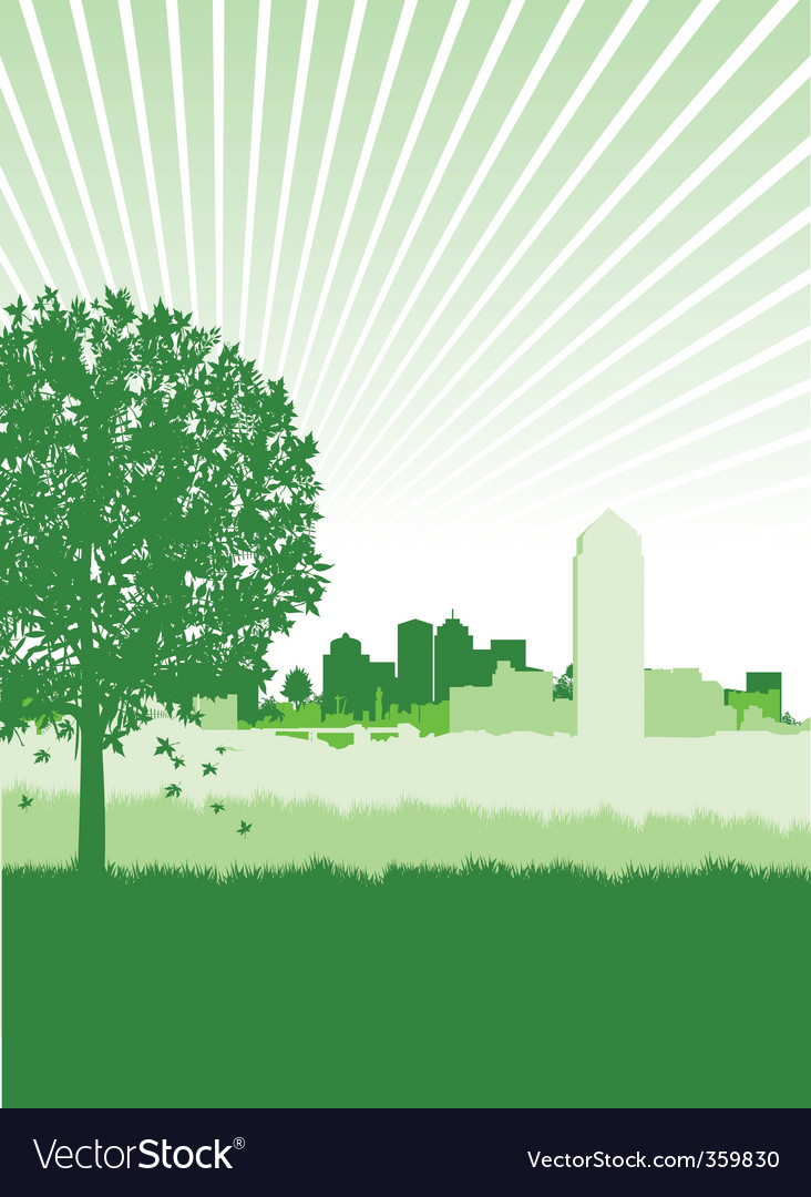 Cityscape meadow vector | Price: 1 Credit (USD $1)