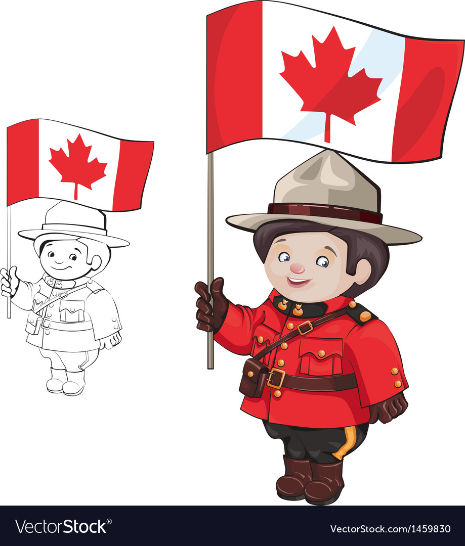 Cute cartoon canadian mounties vector | Price: 1 Credit (USD $1)