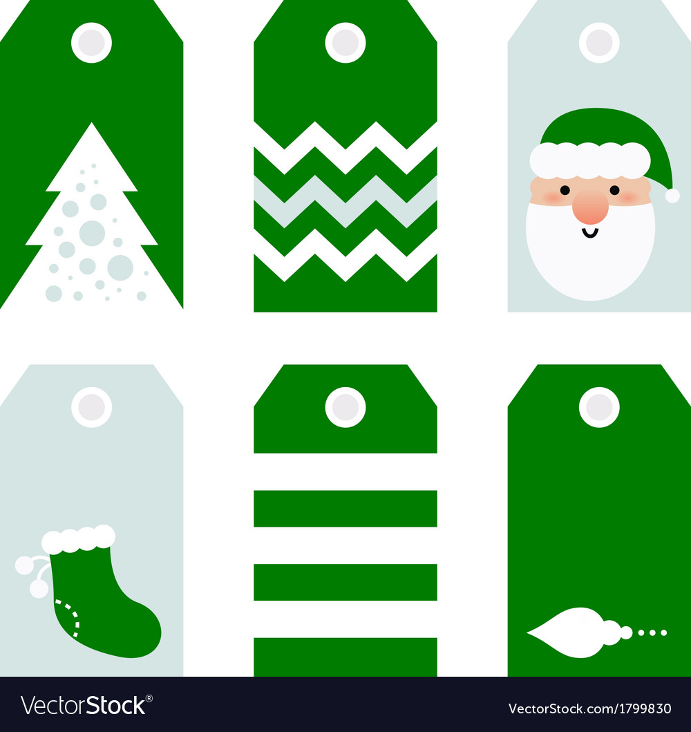 Cute modern christmas holiday gift tags printables vector | Price: 1 Credit (USD $1)