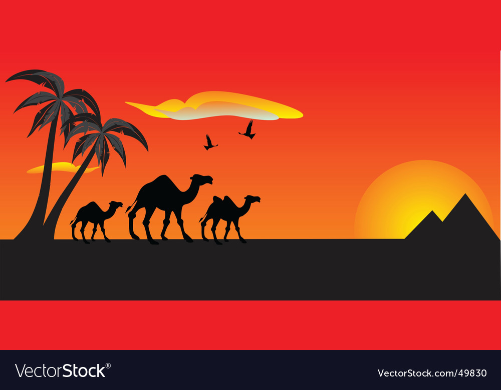 Egypt travel vector | Price: 1 Credit (USD $1)