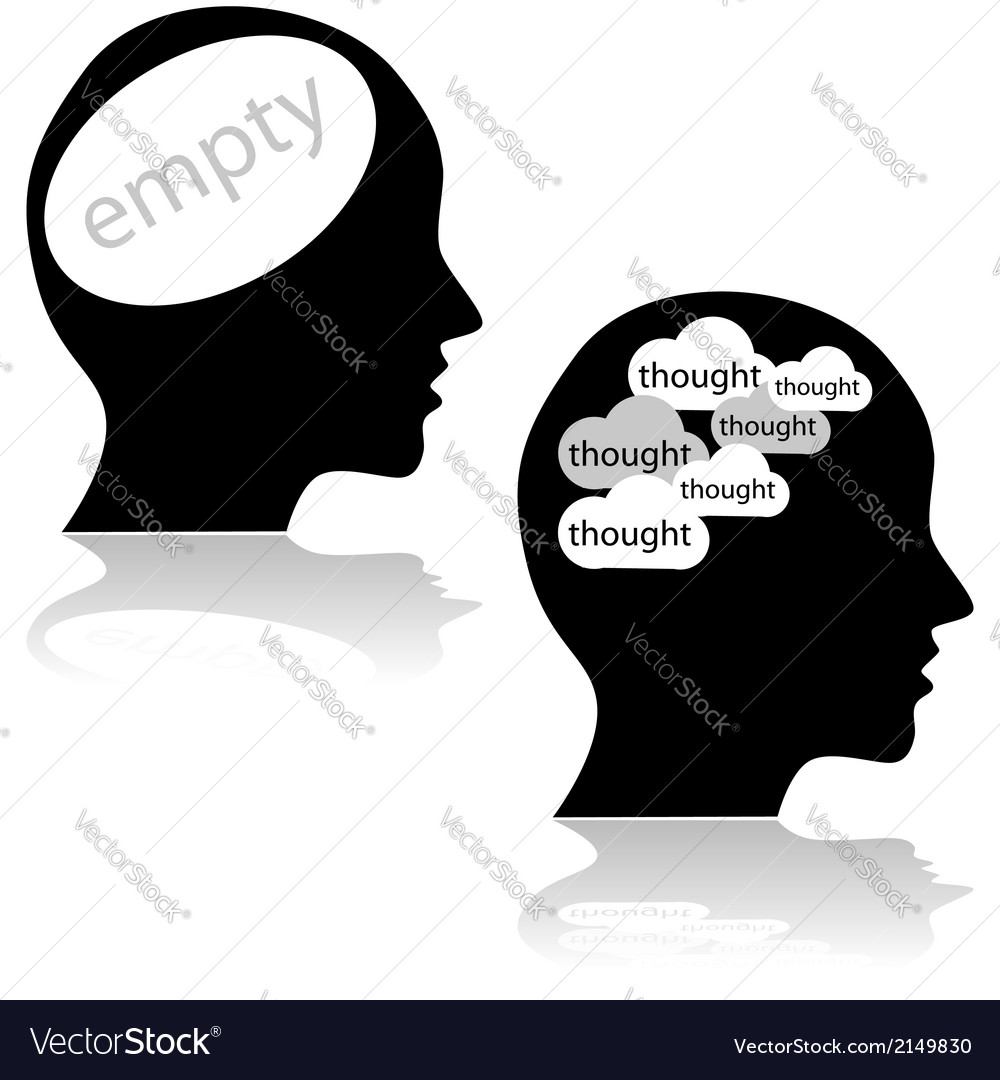 Empty mind vector | Price: 1 Credit (USD $1)