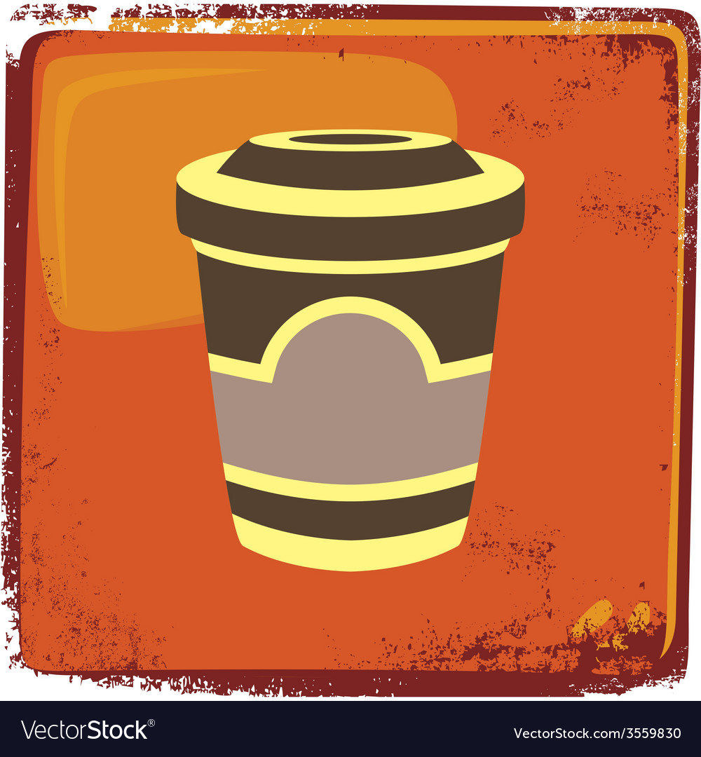 Food and drink theme cappuccino vector | Price: 1 Credit (USD $1)