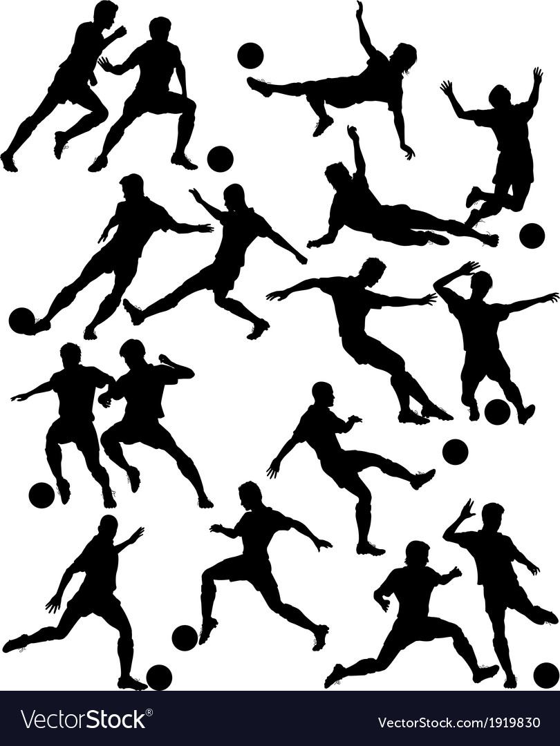 Footballers vector | Price: 1 Credit (USD $1)