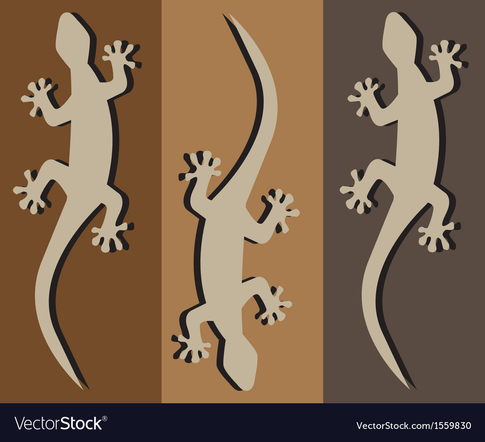 Geckos vector | Price: 1 Credit (USD $1)