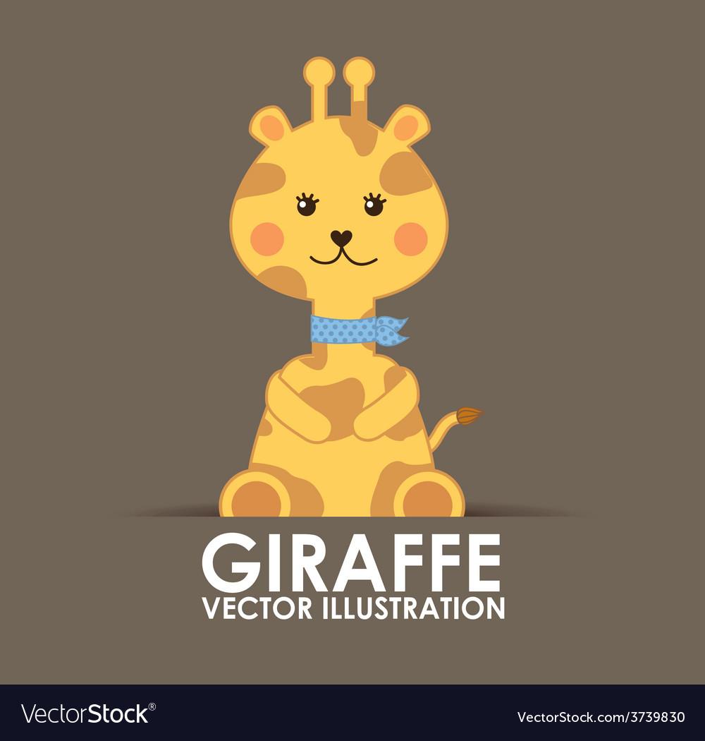 Giraffe cute vector | Price: 1 Credit (USD $1)