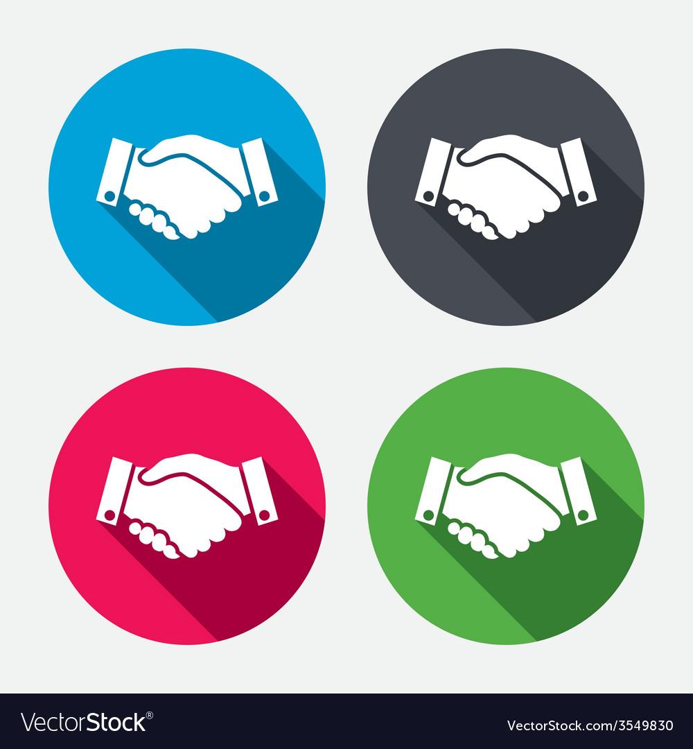 Handshake sign icon successful business symbol vector | Price: 1 Credit (USD $1)