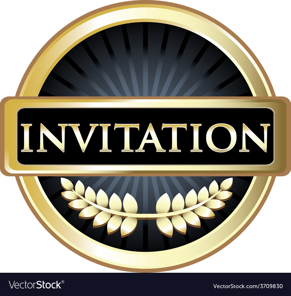 Invitation label vector | Price: 1 Credit (USD $1)