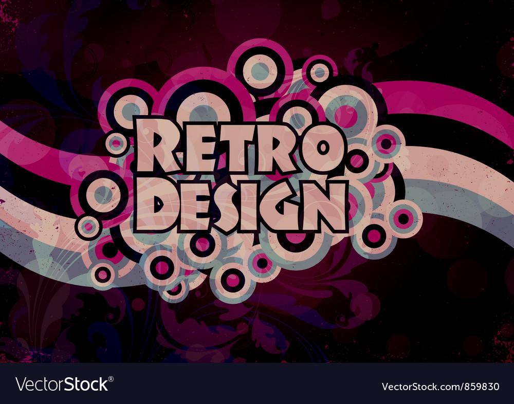 Retro grunge background vector | Price: 1 Credit (USD $1)
