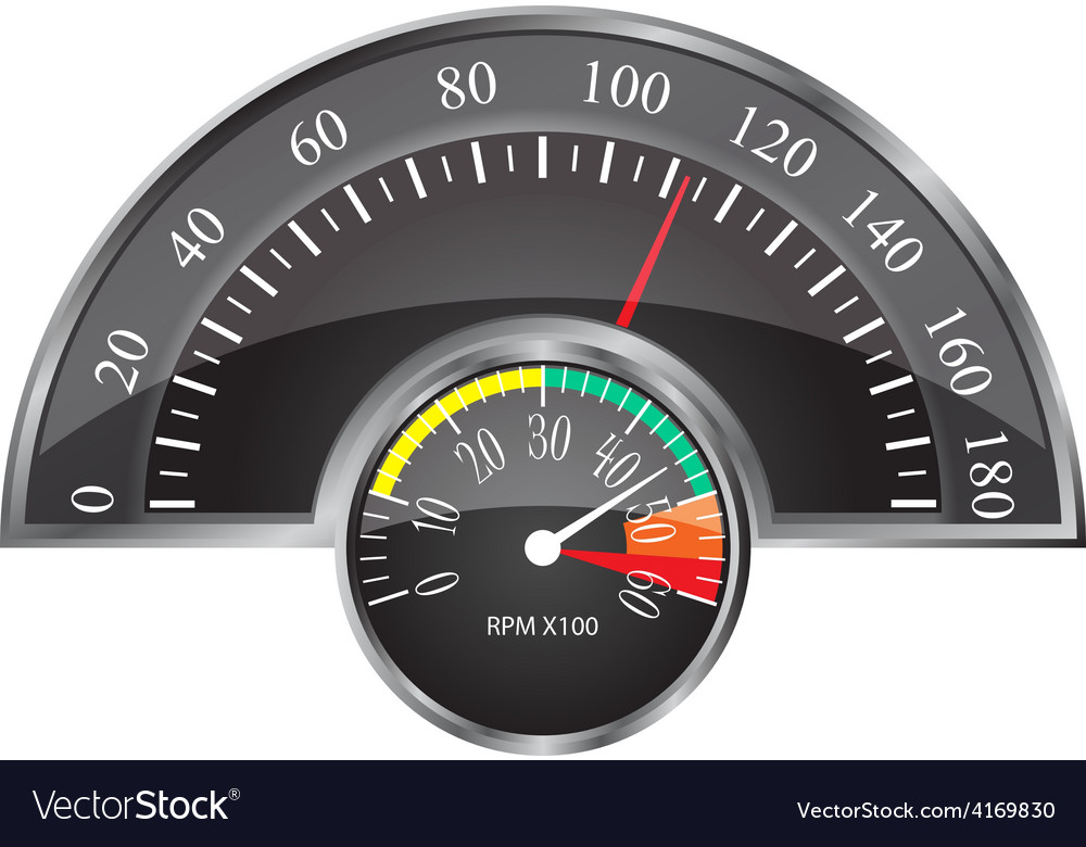 Retro speedometer vector | Price: 1 Credit (USD $1)