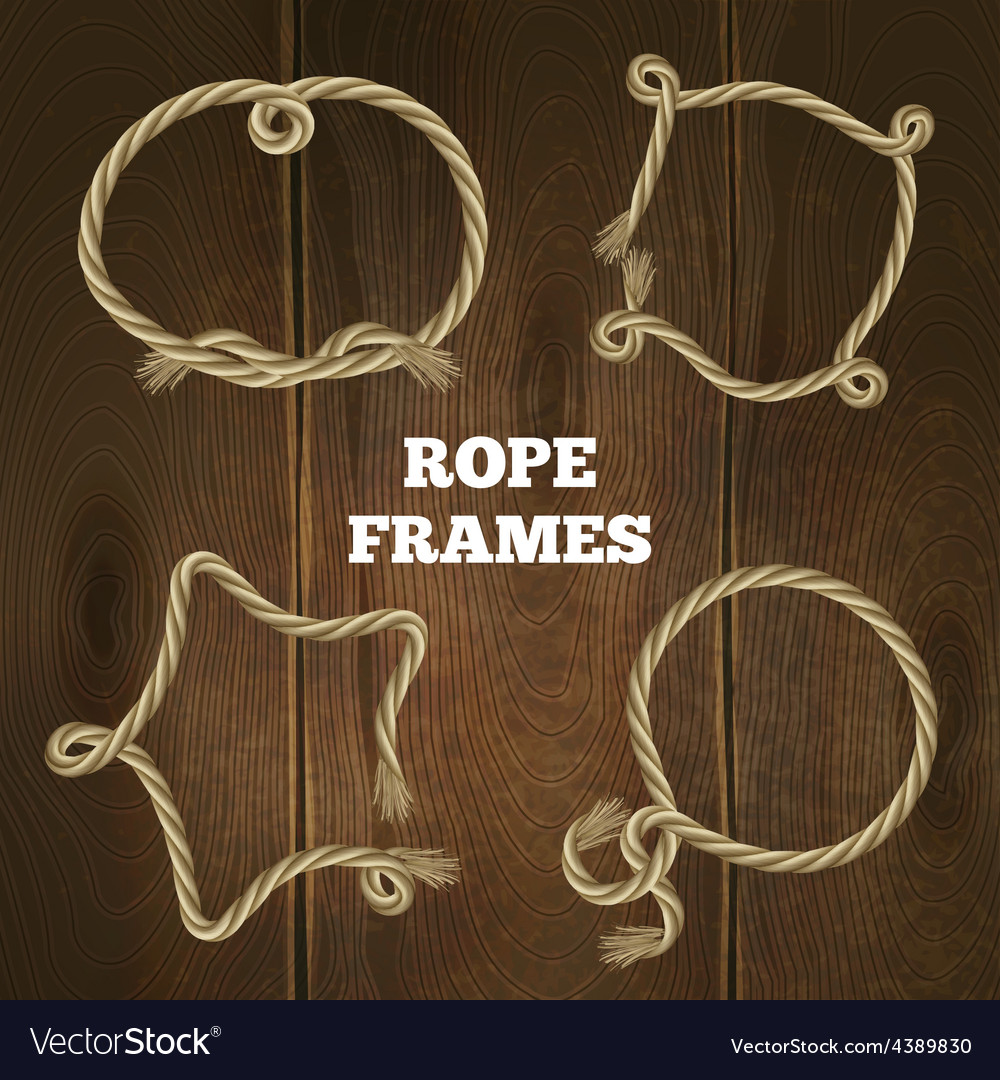 Rope frames set vector | Price: 1 Credit (USD $1)