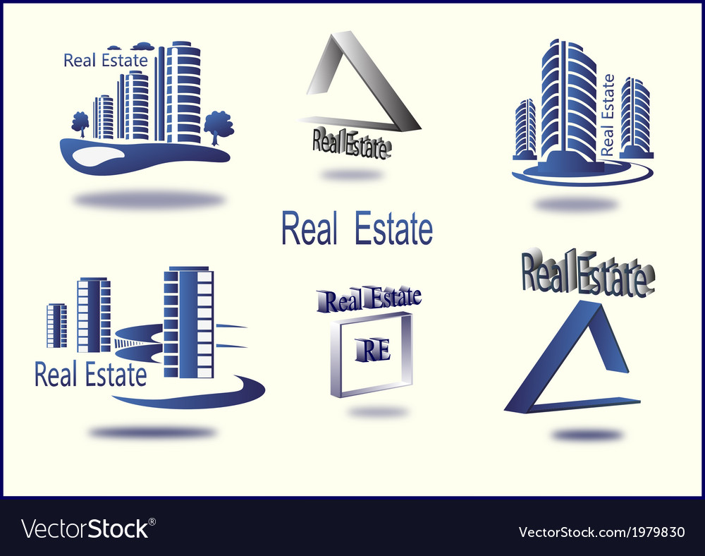 Set of icons real estate vector | Price: 1 Credit (USD $1)