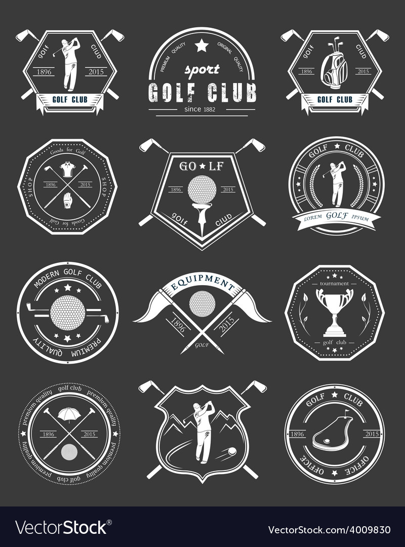Set of logos and icons golf clubs vector   Price: 1 Credit (USD $1)