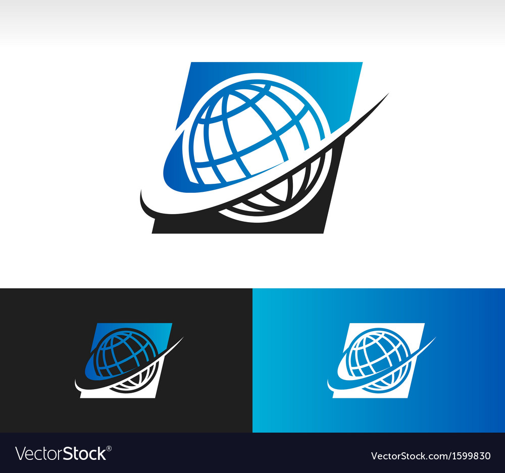 Swoosh world logo icon vector | Price: 1 Credit (USD $1)