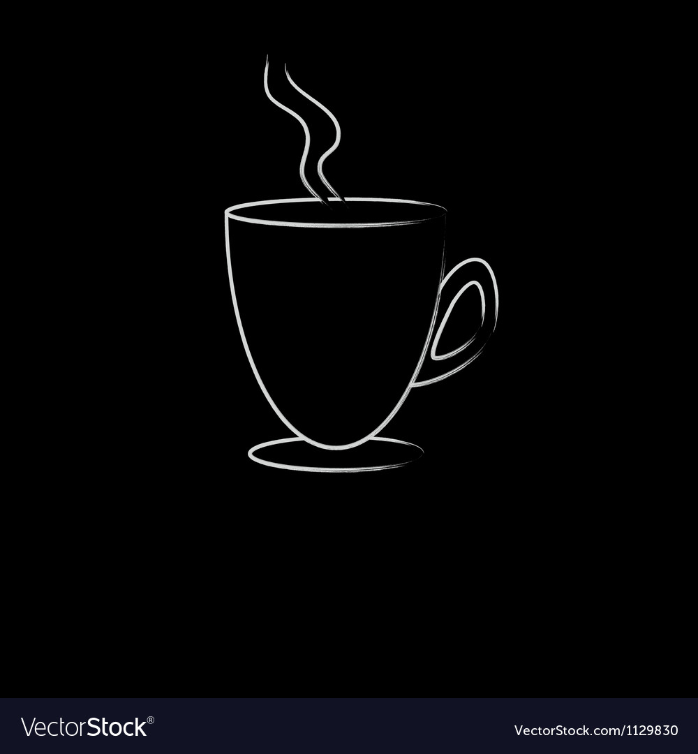 White cup of hot drink vector | Price: 1 Credit (USD $1)