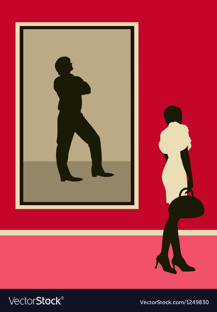 Woman near the man portrait vector | Price: 1 Credit (USD $1)