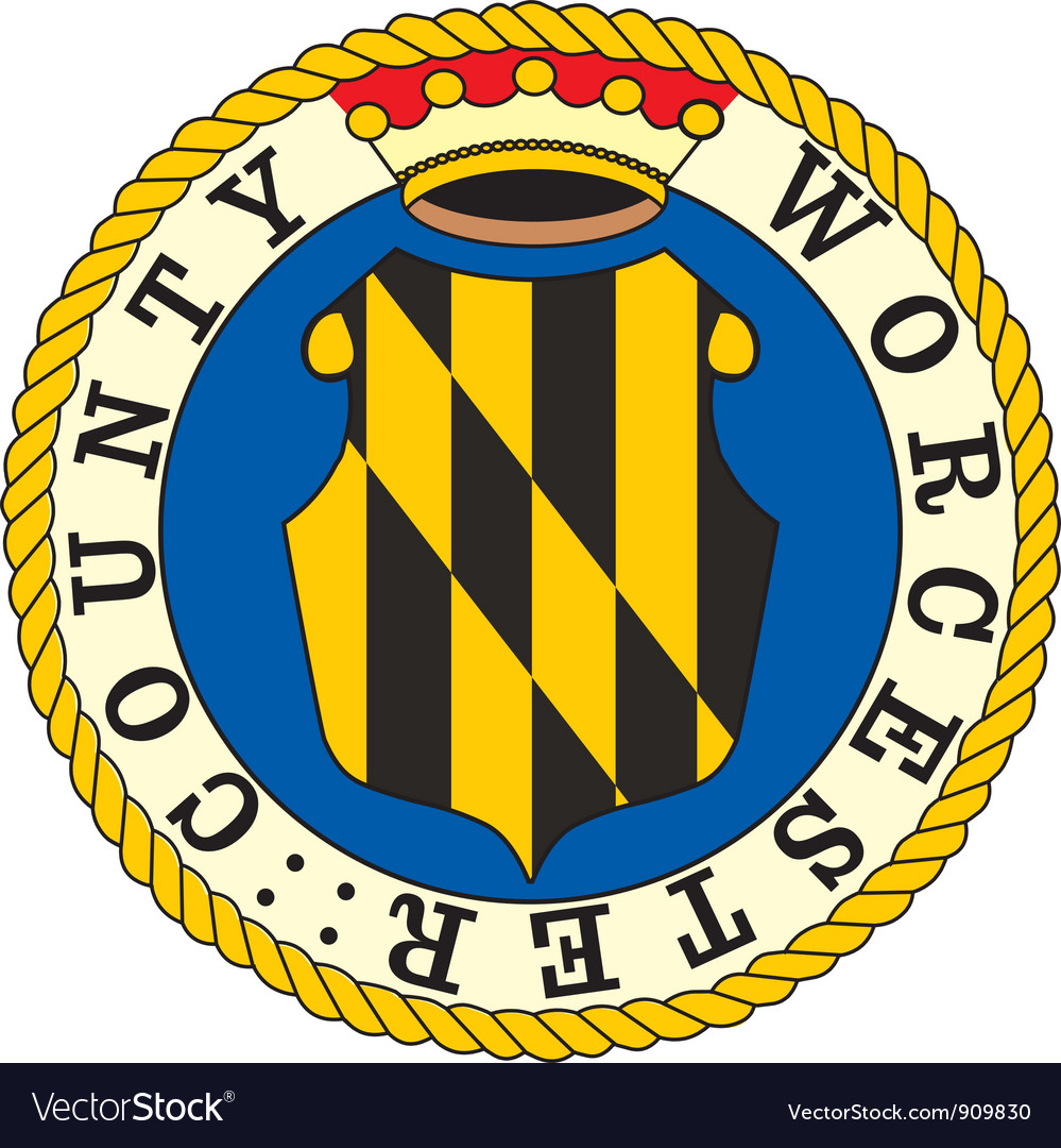 Worcester county seal vector | Price: 1 Credit (USD $1)